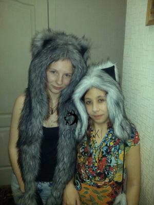 Волк и хаски 2sobakoshapki